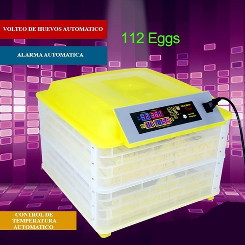 Incubadora De 112 Huevos Automatica  220v Y 12v