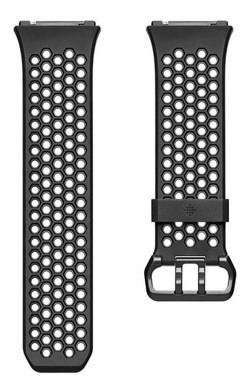 Pulsera Deportiva Para Fitbit Ionic Color Negro/gris Talla G