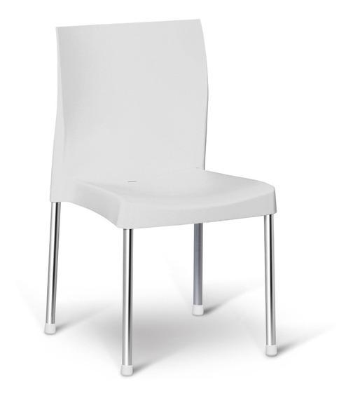 Cadeira Resistente Varanda Churrasco Cozinha Branca Pracasa