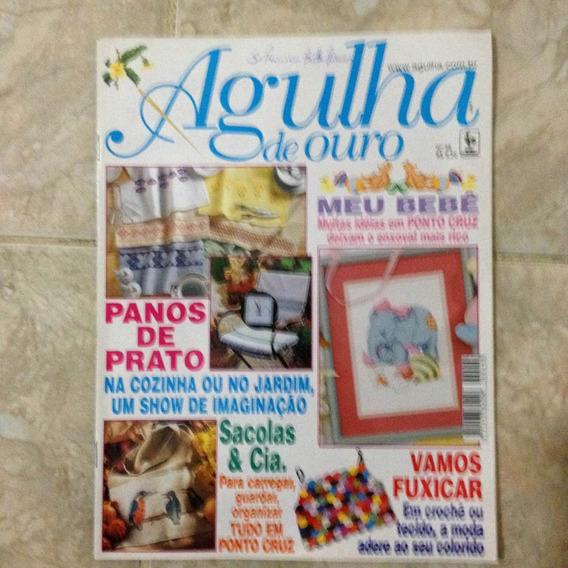 Revista Agulha De Ouro 48 Meu Bebê Ponto Cruz Fuxico Sacolas