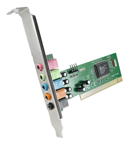 Placa De Som Pci 5.1 Cmi8738 / Pci-6ch / 120db Full Duplex