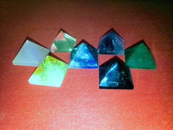 Piramide Ametista Cristal Citrino Obsidiana Quartzo Verde