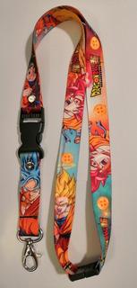 Lanyard / Cordón Porta Gafete/llaves Temática Dragon Ball