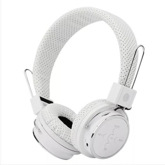 Bluetooth Headphone Original Celular Fm Sd P2 Kp 367 Branco