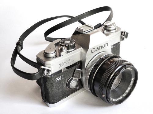 Câmera Fotográfica Analógica Canon Ftb Com Objetiva 50mm