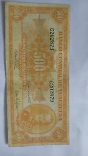 Billete De 500 Bs Año 1967