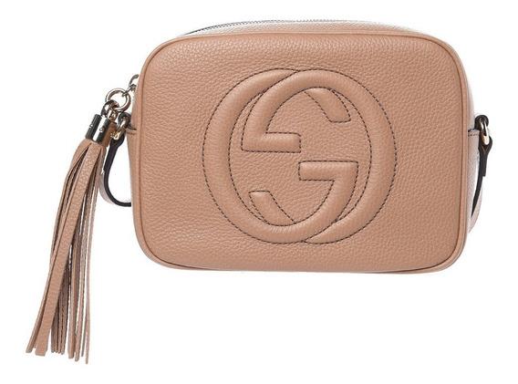 Bolsa Gucci Soho Disco Pequena Bege