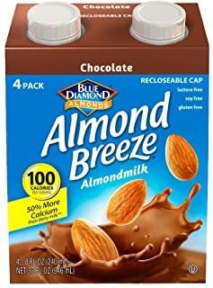 Almond Breeze Leche De Almendras Sin Lácteos, Chocolate, 8