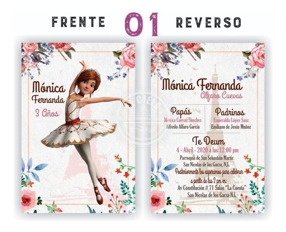 25 Invitaciones Ballerina Félicie, Cumpleaños, Aniversario