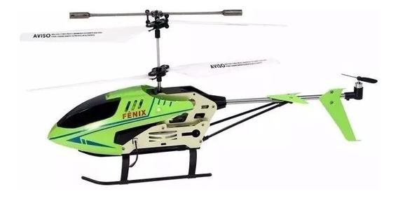 Helicoptero Grande Fênix Cont Remoto 3 Canais Com Giro Luz