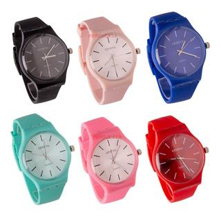 Relojes Silicona Unisex X 10 Unidades Nuevos Modelo 2019
