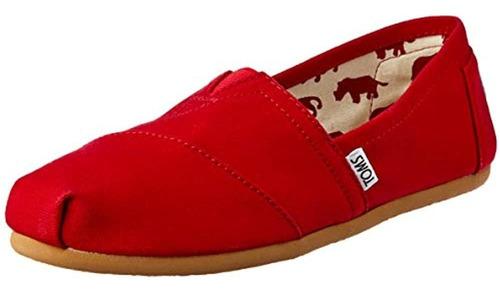 Zapatos Sin Cordones Clasicos De Lona Toms Para Mujer