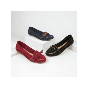 Flats Casuales Al 3x1 Para Dama Gamuza 004652 Tp19