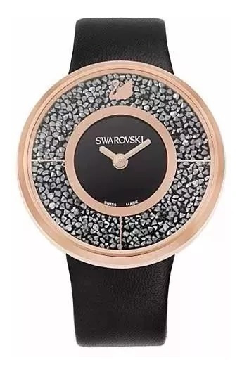 Relógio Swarovski Crystalline Ouro Rosa, - Novo
