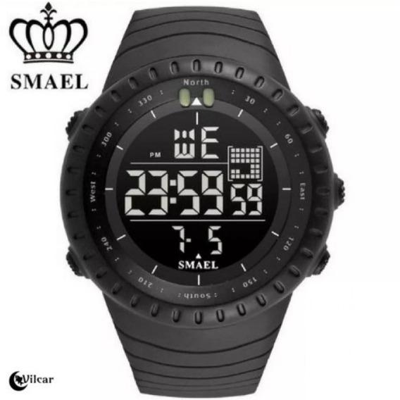 Relógio Digital Militar Smael Esportivo - Estilo Ots - Preto