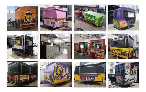 Imagem 1 de 12 de Trailer Food Truck Carreta Carrinho De Lanche Food Treiler