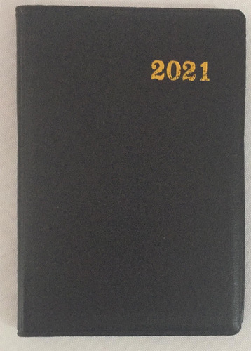 Imagen 1 de 1 de Agenda Negra 2021 Tamaño Bolsillo
