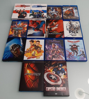 Coleção Blu-ray 26 Filmes Marvel Studio E Homem-aranha