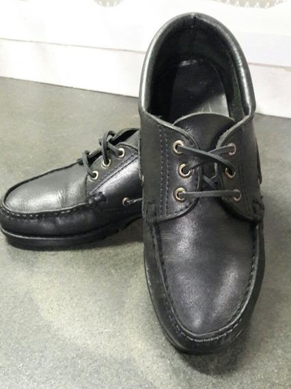 Zapato De Cuero Negro Unisex Escolar Canadiense