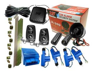 Combo Alarma Para Auto Volumetrica 2 Controles Joy + Cierre Centralizado Universal Para 4 Puertas Americars