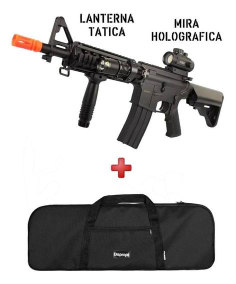 Rifle Cyma M4 Cm176 + Mira Holográfica + Capa + Lanterna