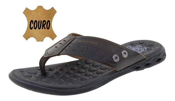 Chinelo Masculino Block Café West Coast - 186301