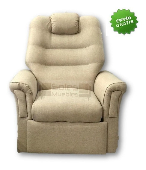 Poltrona Relax Reclinable Tela+goma Soft+envío Gratis+cuotas