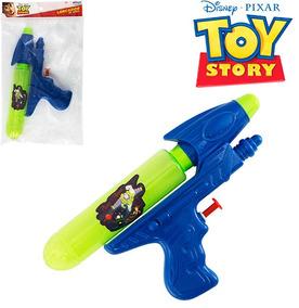 Pistola Lanca Agua Toy Story 20cm Na Solapa