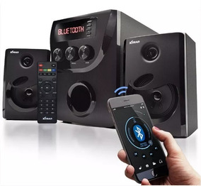 Caixa Som Micro System 2.1 Bluetooth 1000w Pc Com Leitor Sd