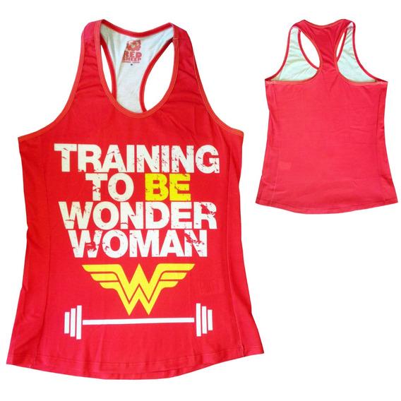 Blusa Regata Fit Feminina - Mulher Maravilha Wonder Woman - Moda Geek Quadrinhos Comic