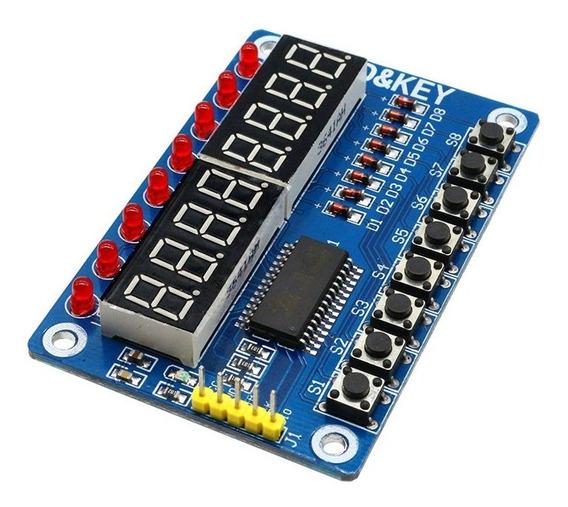 Display Tm1638 7 Segmentos 8x7 Keyled Key-led - Arduino