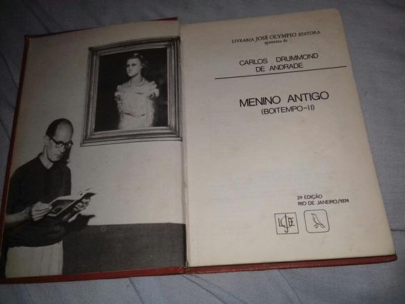 Livro Carlos Drummond De Andrade Menino Antigo