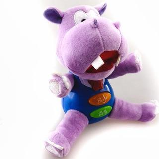 Peluche Hipopotamo Interactivo Bebe Con Luces Y Musica
