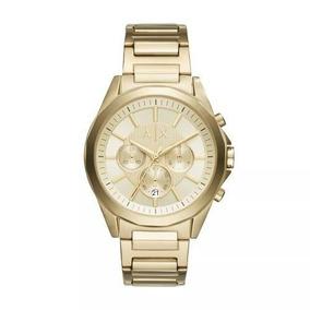 Relógio Armani Dourado Masculino Ax2602/4dn À Prova D