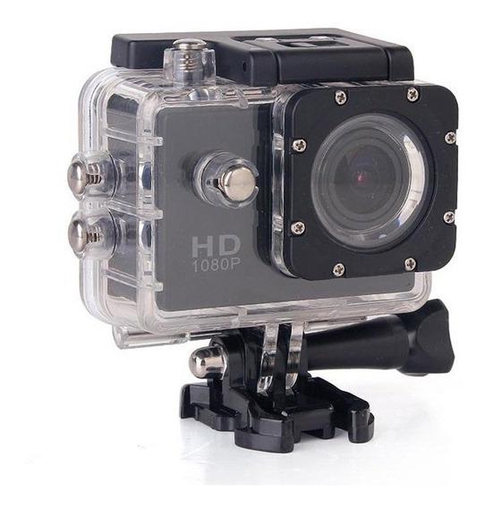 Filmadora Câmera Capacete Esporte Mergulho Similar Hero Hd