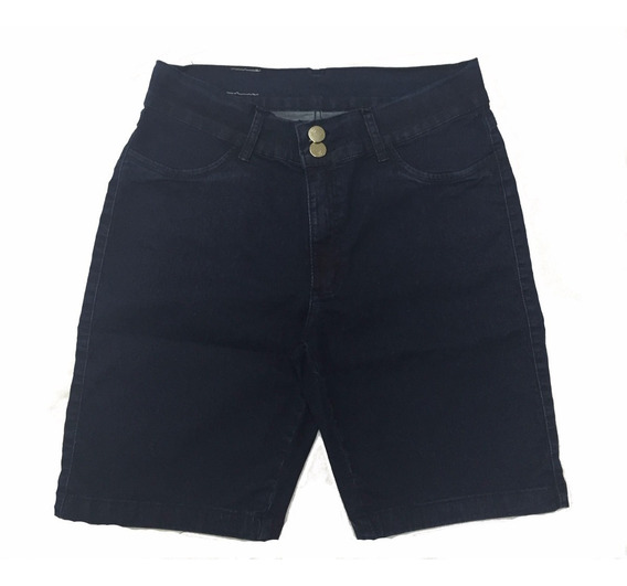 Promoção Bermuda Feminina Jeans Escuro Plussize Defeito 8016