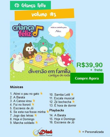 Kit Com 5 Cds Infantis Personalizado Com Nome Da Criança