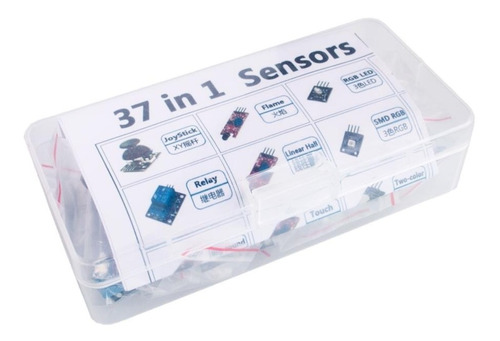 37 Sensores Kit Arduino Raspberry Keyes Aprendizaje Principi