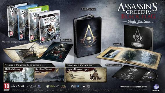 Assassins Creed Iv Black Flag Skull Edition Ps3 Raríssimo