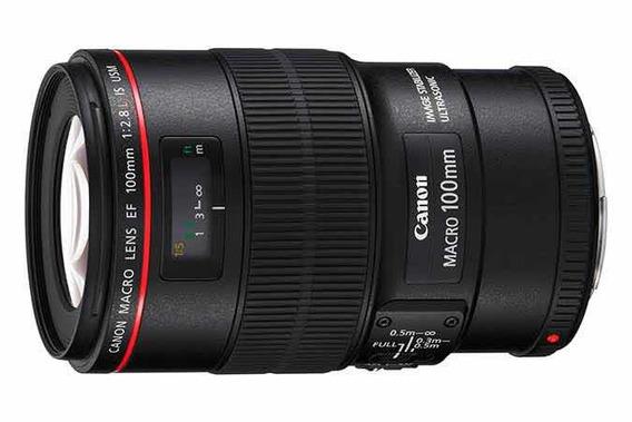 Lente Canon Ef 100mm F/2.8l Is Usm Seminova