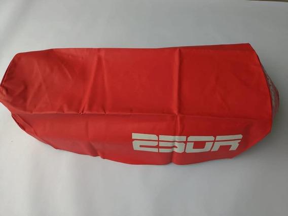 Capa Do Banco Honda Xl 250 Mod Original Vermelho Com Escrita