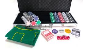 Maleta Poker 500fichas Oficiais S/numeração Kit Completo Pk5