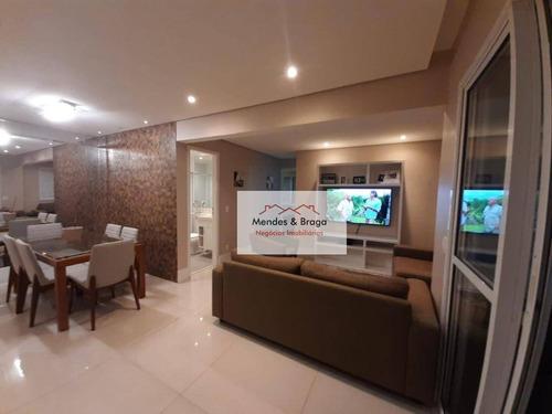Apartamento À Venda, 75 M² Por R$ 487.500,00 - Vila Augusta - Guarulhos/sp - Ap0330