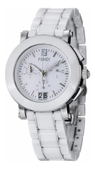 Reloj Fendi Ceramic Cerámica Blanco Mujer Chrono F662140