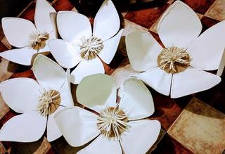 Flores Gigantes Decoracion Exterior/ Interior Papierblumen