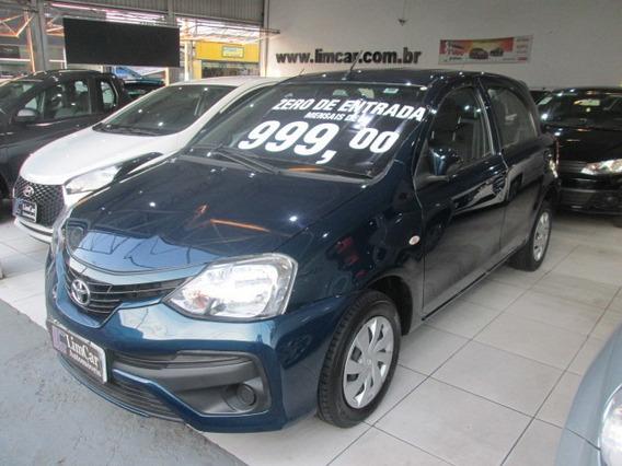 Toyota Etios 1.3 X 2018 Completo Zero De Entrada Unico Dono