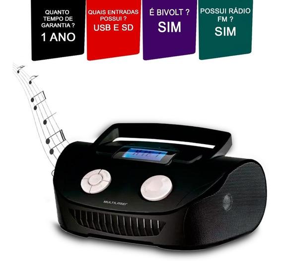 Caixa De Som Boombox Multifuncional 15w Usb/p2/fm/sd Sp182.