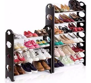 Rack Zapatera 30 Pares Zapatos 10 Niveles Negro Práctico