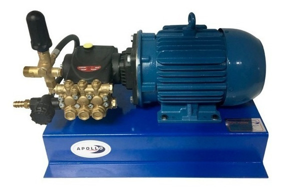 Hidrolavadora Industrial 2600 Psi 5 Hp 220 Volts Apollo 5 Para Autolavado Con Bomba Interpump Italiana Biela Cigüeñal