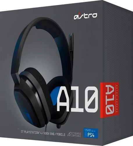 Headset Astro A10 Logitech Grey Blue Ps4 Xbox Pc Mac